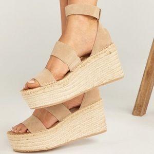 Soludos Palma Platform Blush Heel 7
